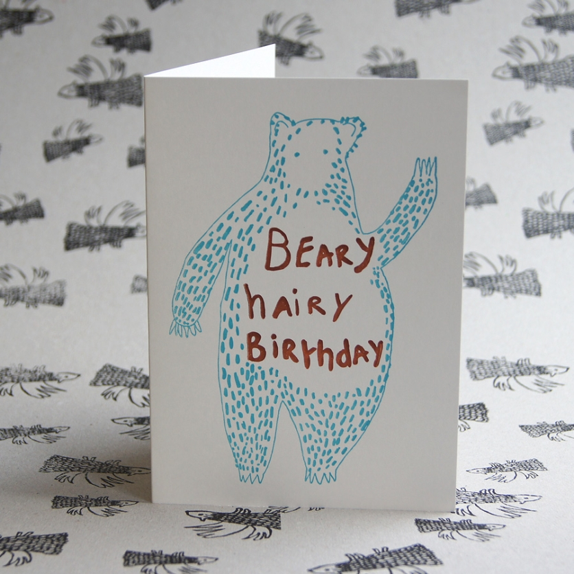 Beary Hairy Birthday Card
