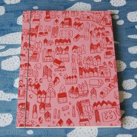 Hand Stitched Notebook - House