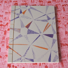 Hand Stitched Notebook - Star