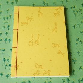 Hand Stitched Notebook - Zebras and Giraffes