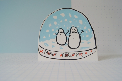 Merry Christmas Snow Globe