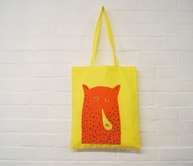 """Hi"" Cat Man Tote Bag"